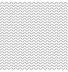 black fine wavy line pattern black and white vector image