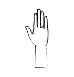 Hand open palm with ring icon vector