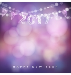 Happy new year greeting card with 2017 Glittering vector image vector image