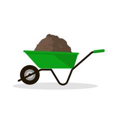 wheelbarrow with organic fertilizer vector image
