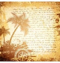 Vintage Travel Letter vector image vector image