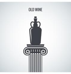 Vintage Wine Jug Design Background vector image vector image