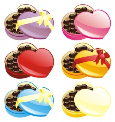 chocolate boxes set vector image vector image