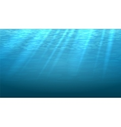 Empty underwater blue shine abstract vector image