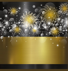 happy new year design on metal background vector image vector image
