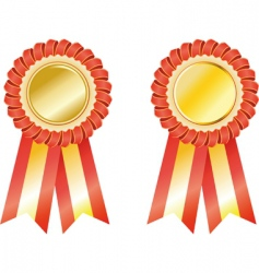 set award ribbons vector image vector image