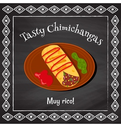 tasty chimichangas vector image vector image