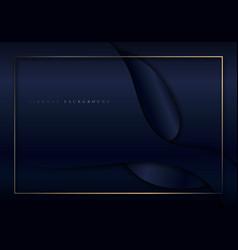 Abstract elegant dark blue shiny curved shape vector