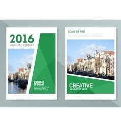 Annual report design templates Business vector