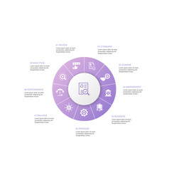 Audit infographic 10 steps circle designreview vector