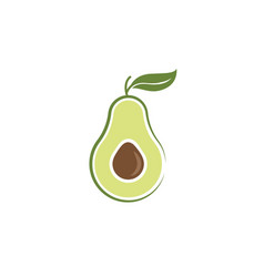 avocado icon design vector image