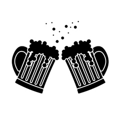 black beer glasses icon image design vector image