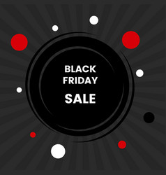 black friday sale banner on black background vector image