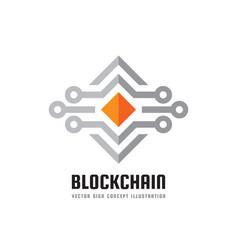 blockchain technology - logo template vector image vector image