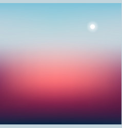 Blur nature background with sun vector
