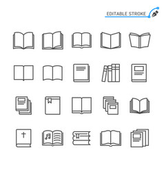 book line icons editable stroke vector image