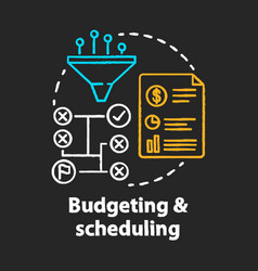 Budgeting scheduling chalk concept icon business vector