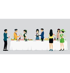 Catering hotels vector image