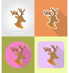 Christmas and new year flat icons 10 vector