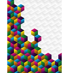 Colorful cubes panel vector