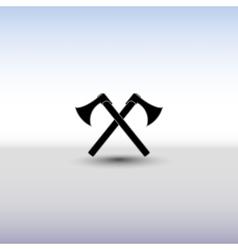 Crossed battle axes vector