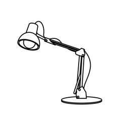 Desk lamp light bulb electric device image vector