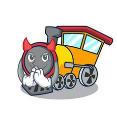 Devil train mascot cartoon style vector