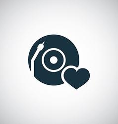 dj love icon vector image