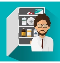 Doctor medicine and medical care design vector