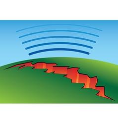 Earthquake crack vector image