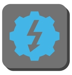 Electric Gear Rounded Square Button vector