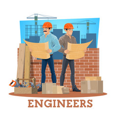 Engineer and architect construction industry vector