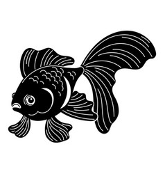 Exotic goldfish icon simple style vector