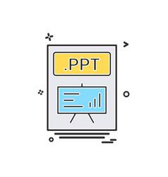 File files ppt icon design vector