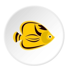 Fish yellow tang icon flat style vector