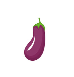 Flat eggplant icon isolated on white background vector