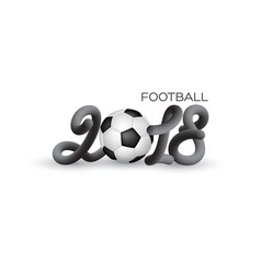 football 2018 world championship cup vector image