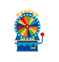 Fortune wheel arcade game vending machin vector