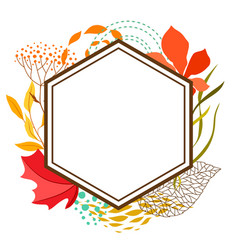 Frame with falling leaves vector