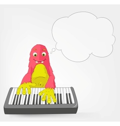 Funny Monster Pianist vector image