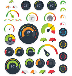 gauges set vector image