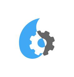 gear water logo icon design vector image