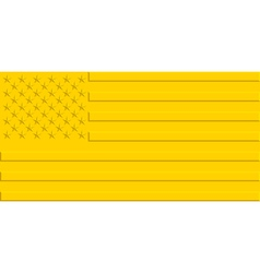 Gold USA flag vector image