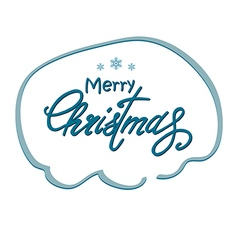 Greeting Christmas lettering vector image