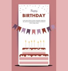 happy birthday card birthday party elements isolat vector image