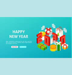 happy new year 2020 banner vector image