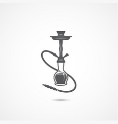 hookah flat icon vector image