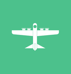 Icon heavy military transport aircraft vector