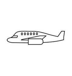 Isolated object plane and aircraft icon set of vector