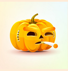 jack-o-lantern terrible facial expression of vector image